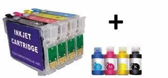 reset epson xp 211 botones pack de cartuchos recargable epson xp 201 211 tintas 969 00 en