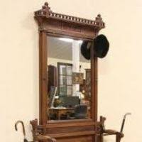 Antique Hall Bench Antique Hall Bench With Mirror Justsingit Com