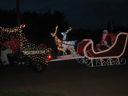 sleigh trailer w reindeer golf cart parade ideas pinterest