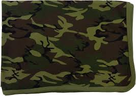 army pattern fleece baby receiving blanket green camo baby milano