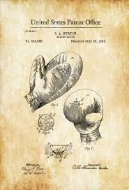 What Size Paper Are Blueprints Printed On by Boxing Glove Patent 1894 Patent Print Boxing Art Glove Patent