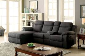 Fabric Sectional Sofa With Recliner by Kamryn Reclining Sectional Sofa Cm6771gy In Gray Fabric