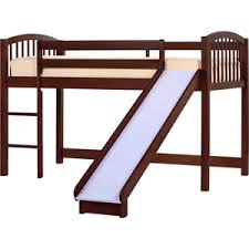 junior loft bed with slide basics cherry collection hardwood fow
