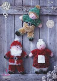 king cole 9029 knitting pattern tinsel christmas toys to knit in