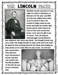biography of abraham lincoln in english pdf presidents day early finishers writing centers and morning work
