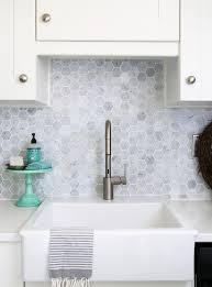 Backsplash Alternatives To Subway Tile Blue Door Living - Hexagon tile backsplash