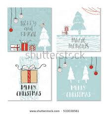 set 4 cute christmas cards quote stock vector 538467586 shutterstock