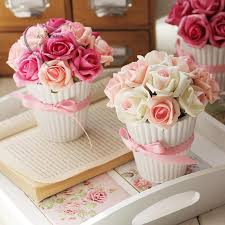 Flowers With Vases Online Cheap Pe Sponge Red Pink Rose Fores Artificial Flower With