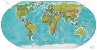 Maps Of The World Com by Large Detailed Political And Relief Map Of The World World