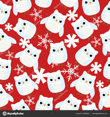 owl christmas wrapping paper seamless background of christmas illustration with winter