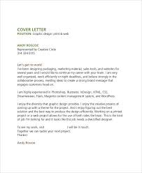 designing a cover letter graphic design cover letter sle aimcoach me