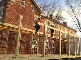 1850 farmhouse porch kimble hayes design restoration pinterest