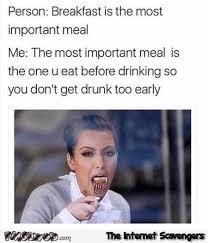 Breakfast Meme - breakfast is the most important meal funny meme pmslweb