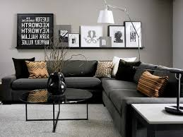 living room decor with black sofas interior design