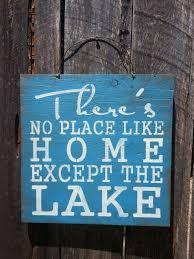 lake sign lake house decor lake house art cabin sign lake