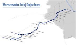 Warsaw Airport Map Warsaw Commuter Railway Wikipedia