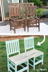 Outdoor Bench Furniture by Colorful Upcycled Chair Bench For Your Backyard Making Manzanita