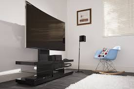techlink ec130tvb audio visual furniture black with drawer and