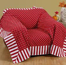 sofaã berwurf weiãÿ homescapes dekorativer überwurf polka dots rot 150 x 200 cm für