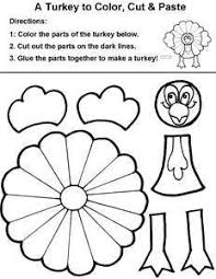 easy color cut paste turkey to make with to get them