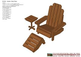 home garden plans gc101 garden chair plans out door furniture