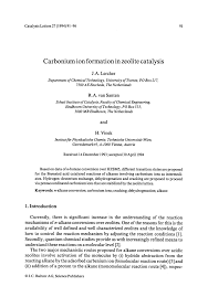 carbonium ion formation in zeolite catalysis pdf download available