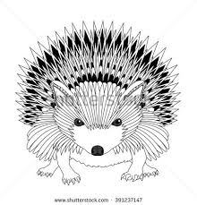 highly detailed abstract hedgehog illustration vector stock vector