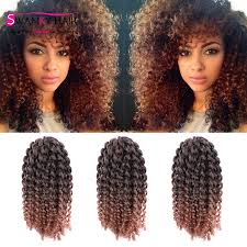 ombre crochet braids 3pcs lot 10 afro twist hair crochet braids ombre braiding