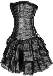 amazon com imilan halloween women lace up corset bustier