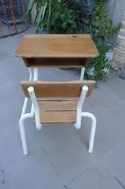 bureau ancien ecolier bureau pupitre écolier enfant ancien design déco 50s fer et bois