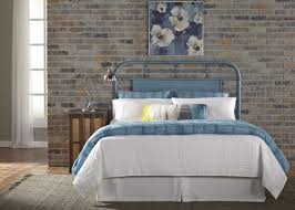 King Metal Headboard Vintage Series Metal Headboard Blue Furniture