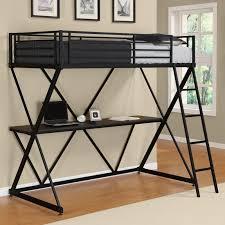 black metal twin loft bed with desk dhp x loft bed black hayneedle