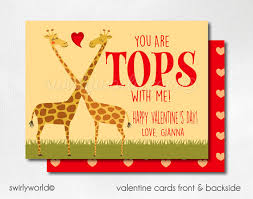s day giraffe giraffe s day cards valentines for kids