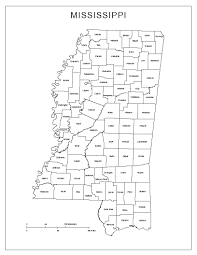 State Map Blank by Mississippi Labeled Map