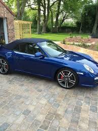 porsche 4s 2011 2011 porsche 911 4s cabriolet pdk s 997 turbo bodied blue