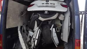 bmw inside 2014 stolen and dismantled bmw x6 squeezed inside a volkswagen lt van