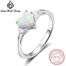 sted jewelry classic eternal heart white opal rings for women real 925