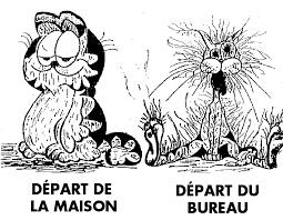 dessin humoristique travail bureau départ de la maison départ du bureau surcharge travail