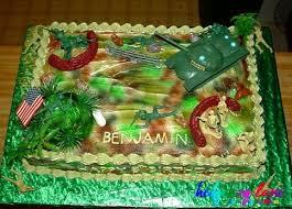 Army Themed Rectangular Cake Hedgehog Lane Themed Party Decor