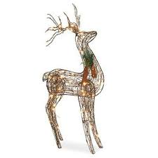 sylvania outdoor decor 48 inch grapevine standing deer 70 clear
