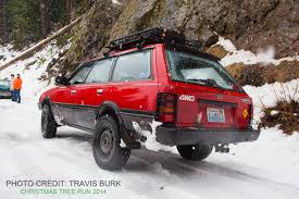 subaru loyale lifted hatch u201d patrol u0027s xmas tree run dec 2014 mt rainier washington