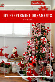 diy peppermint ornaments marta mccue