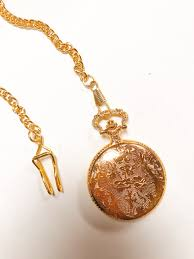 ladies pocket watch necklace images Bright gold pocket watch the taj company jpg