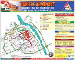 ad police delhi police traffic advisory independence day full dress