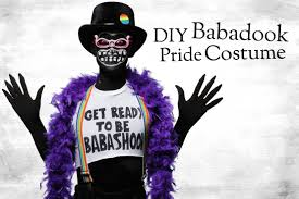 meme halloween costumes diy babadook pride costume and makeup tutorial halloween