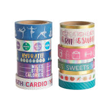 shop for the fitness washi tape pouch by recollections at michaels