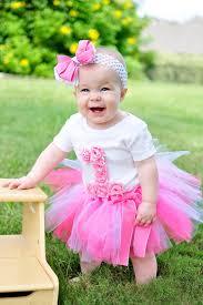 1st birthday tutu birthday tutu pink rosette birthday