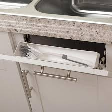 kitchen sink cabinet tray simply put 11 in w x 2 in h pull plastic tip out tray