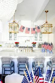 kitchen island instead of table summer entertaining easy decor and ice cream sundae bar for the
