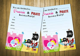 20 children u0027s birthday party invitations princess and pirate party